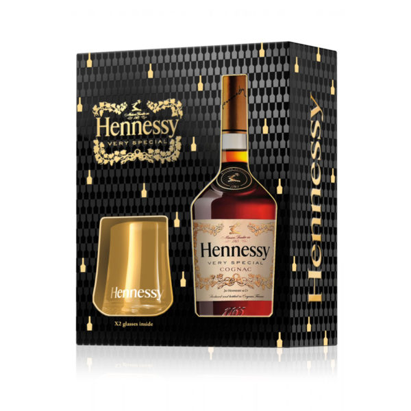 Hennessy VS + 2 szklanki