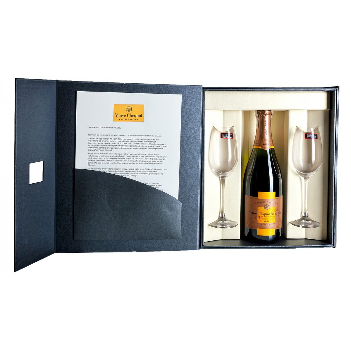 Zestaw prezentowy luksusowy - Veuve Clicquot Vintage Rosé 2012