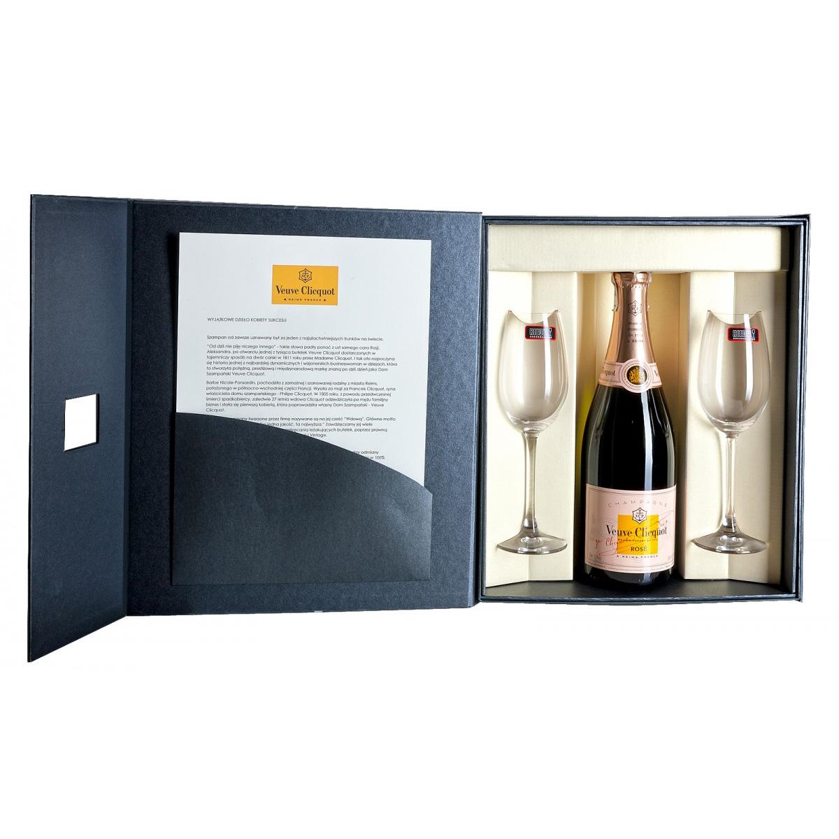 Zestaw prezentowy luksusowy - Veuve Clicquot Rosé