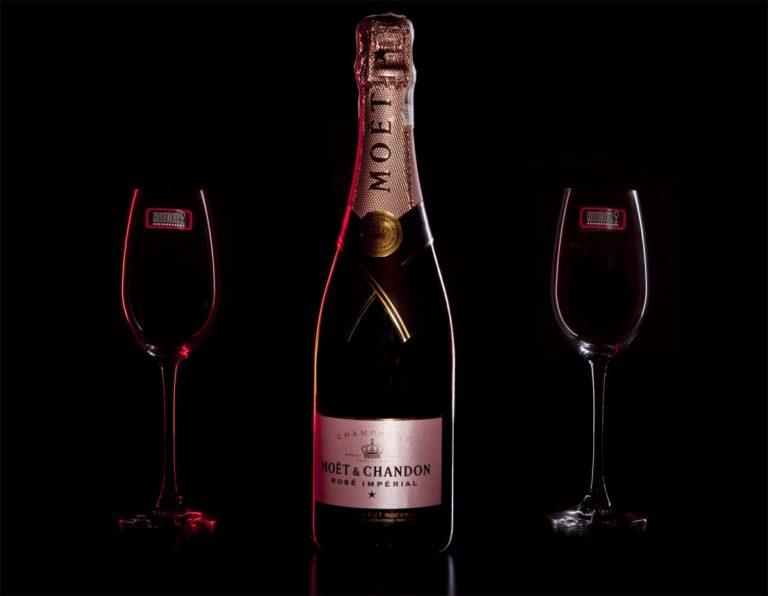 Zestaw prezentowy luksusowy - szampan Moët & Chandon Rosé Impérial