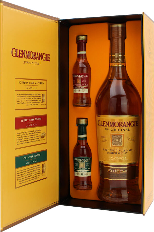 Glenmorangie The Original 10 Y.O. Discovery Pack 0,7L + 2 mini limitowana edycja