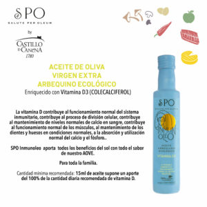 NOWOŚĆ! Oliwa Castillo de Canena Arbequina SPO MY FIRST organiczna 0,25 ltr VIDALIM omega 3 DHA i ekstrakt z rozmarynu